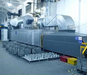 Horno de curado GAS de 14 metros para línea de revestimiento de escamas de zinc FG1412